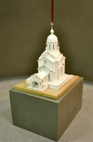 Макет церкви. Автор проекта А.С. Демирханов